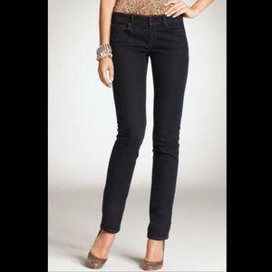 LOFT Modern Straight Leg Black Jeans - Size 12P